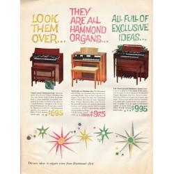 "1961 Hammond Organ Ad ""Look them over"""