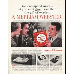 "1961 Merriam-Webster Dictionary Ad ""friend for life"""
