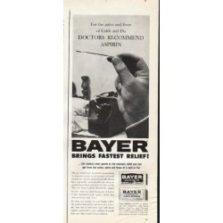 "1961 Bayer Aspirin Ad ""the pains and fever"""