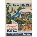 """1949 Mobiloil Ad """"For a Hummer of a Summer!"""""""