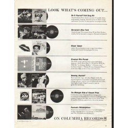 "1961 Columbia Records Ad ""Look What's Coming Out"""