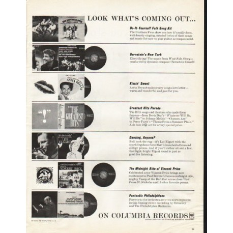 """1961 Columbia Records Ad """"Look What's Coming Out"""""""