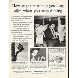 "1961 Sugar Information, Inc. Ad ""How sugar can help"""