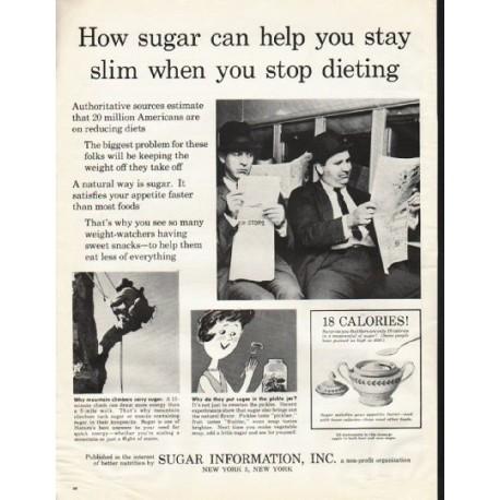 "1961 Sugar Information, Inc. Ad ""How sugar can help"""