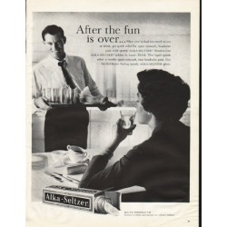 "1961 Alka-Seltzer Ad ""After the fun"""