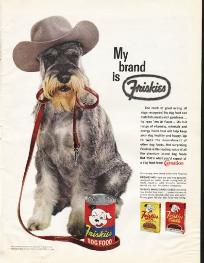 Vintage Holiday Brand Dog Food