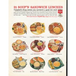 "1961 Campbell's Soup Ad ""sandwich lunches"""