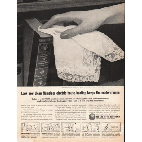 """1961 Edison Electric Institute Ad """"electric house heating"""""""