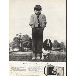 "1961 Polaroid Camera Ad ""Don't just stand there"""