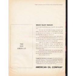 "1961 American Oil Company Ad ""World's Tallest Traveler!"""