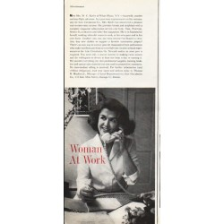 "1961 LIFE Circulation Company Ad ""Woman At Work"""
