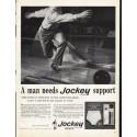 """1961 Jockey Briefs Ad """"Jockey support"""""""