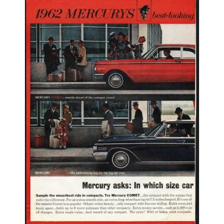 "1962 Ford Mercury Ad ""best-looking buys"" ~ (model year 1962)"