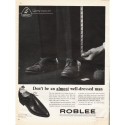 "1961 Roblee Shoes Ad ""almost well-dressed man"""
