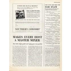 """1961 Southern Comfort Liqueur Ad """"master mixer"""""""