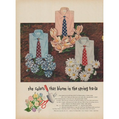 "1949 Van Heusen Ad ""the colors that bloom in the spring tra-la"""