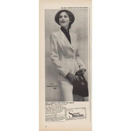 "1949 Sacony Ad ""it's a wonderful buy! $25"""