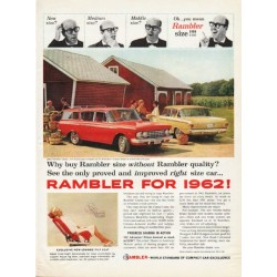 "1962 Rambler Ad ""New size"" ~ (model year 1962)"