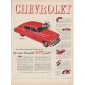 """1949 Chevrolet Ad """"Fleetline DeLuxe 4-Door Sedan"""""""