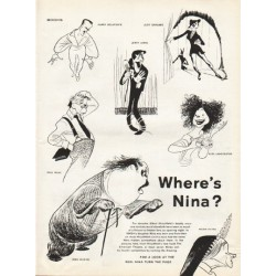 "1961 Albert Hirschfeld Article ""Where's Nina"""
