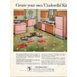 """1961 Frigidaire Ad """"""""Cinderella"""" Kitchen"""""""