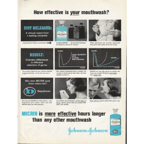 "1961 Johnson & Johnson Ad ""How effective"""