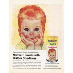 "1961 Northern Towels Ad ""Built-in Sturdiness"""
