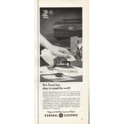 "1961 General Electric Ad ""New Travel Iron"""