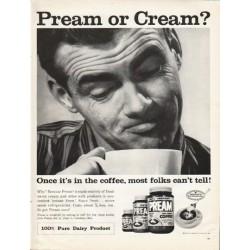"""1961 Pream Ad """"Cream?"""""""