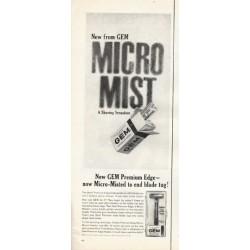 "1961 Gem Razor Ad ""Micro Mist"""