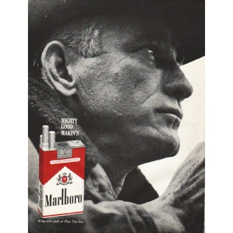 "1961 Marlboro Cigarettes Ad ""Mighty Good"""