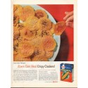 "1961 Albers Corn Meal Ad ""Crispy Crackers"""