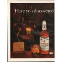 """1961 Hiram Walker's Ten High Bourbon Ad """"TRUE bourbon"""""""