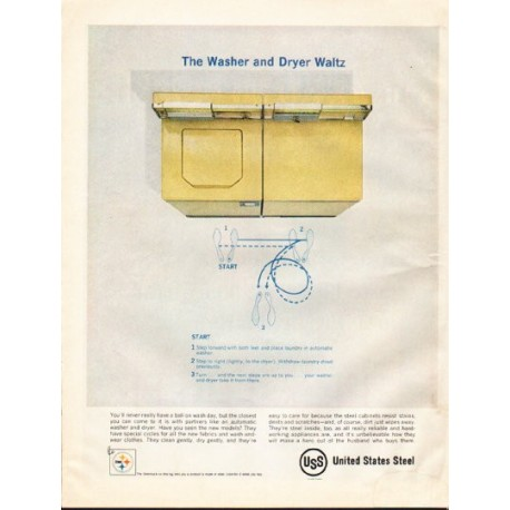"1961 United States Steel Ad ""Washer and Dryer Waltz"""