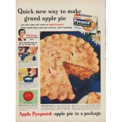 "1949 Apple Pyequick Ad ""Quick new way to make grand apple pie"""