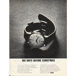 "1961 Elgin Watch Ad ""180 Days Before Christmas"""