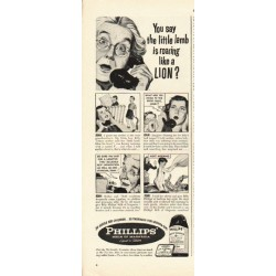"1948 Phillips' Milk of Magnesia Ad ""the little lamb"""