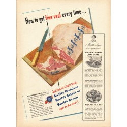 """1948 Swift's Veal Ad """"fine veal"""""""