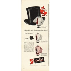"1948 TruVal Shirts Ad ""High Hat"""