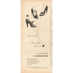 "1948 Florsheim Shoes Ad ""It's a pump"""