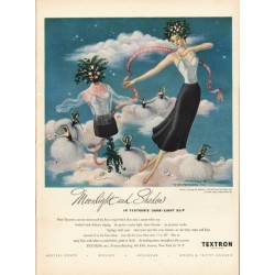 "1948 Textron Slip Ad ""Moonlight and Shadow"""