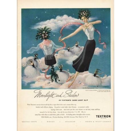 "1948 Textron Slip Ad ""Moonlight and Shadow"""