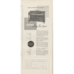 "1948 Lester Piano Ad ""For Playing Pleasure"""