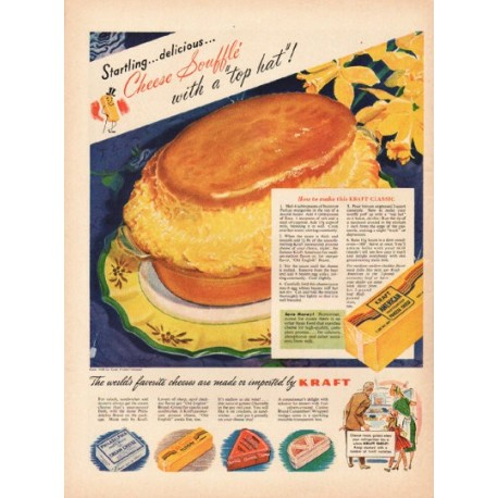 "1948 Kraft Cheese Ad ""Cheese Souffle"""