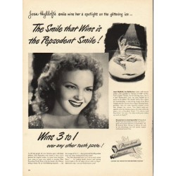 "1948 Pepsodent Tooth Paste Ad ""The Smile that Wins"""
