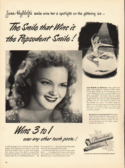 "1948 Pepsodent Tooth Paste Vintage Ad ""The Smile that Wins"""