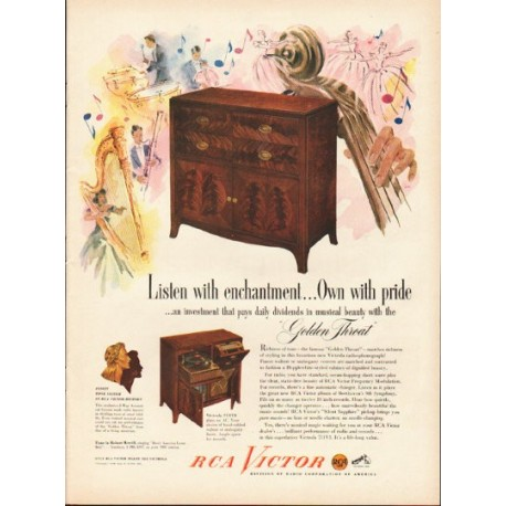 "1948 RCA Victor Ad ""Listen with enchantment"""