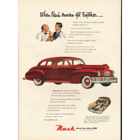 """1948 Nash 600 Ad """"Nash owners"""" ~ (model year 1948)"""
