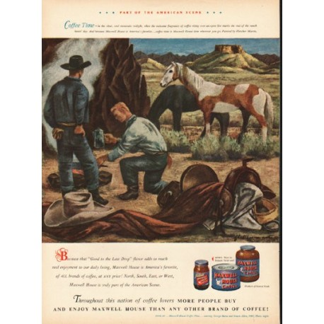 "1948 Maxwell House Coffee Ad ""Coffee Time"""
