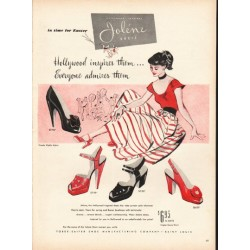 "1948 Jolene Shoes Ad ""in time for Easter"""